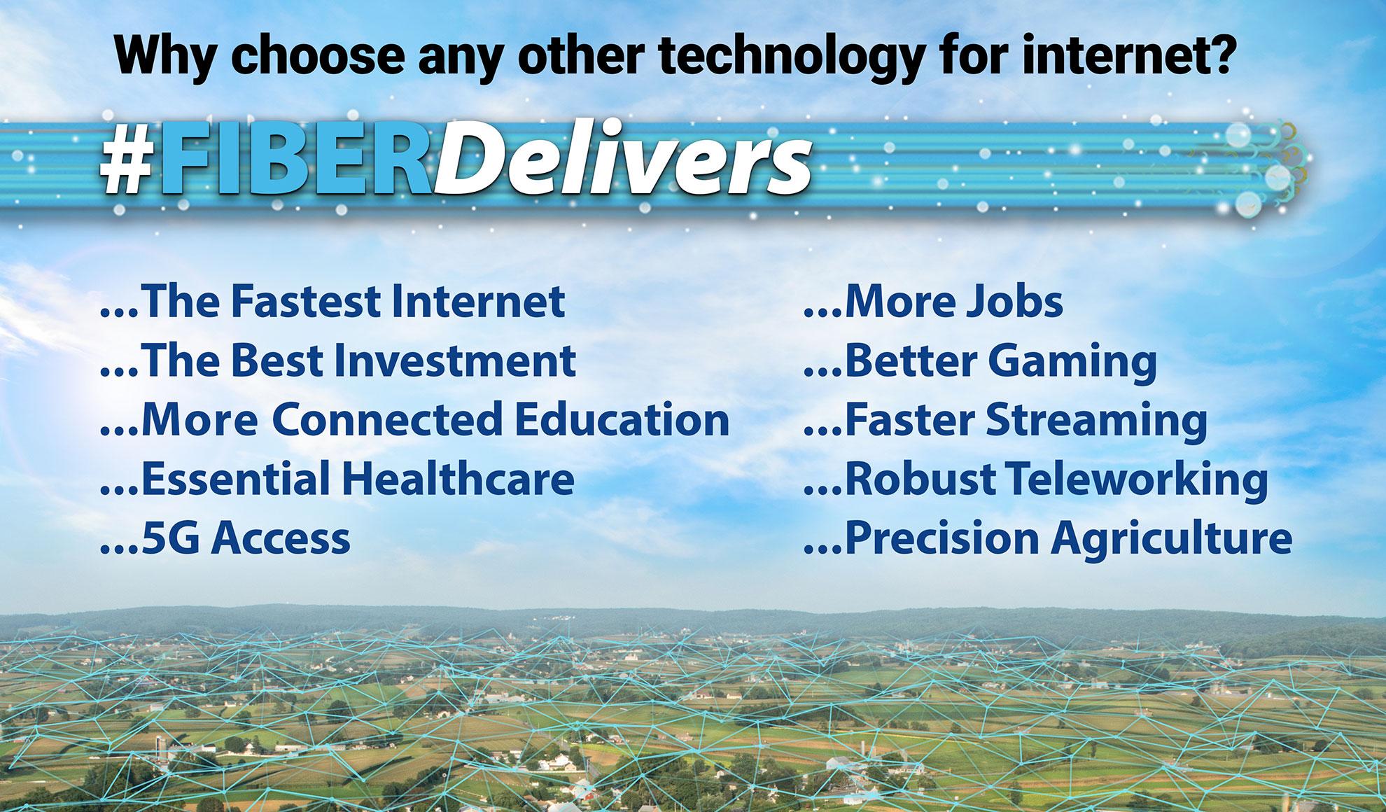 Fiber delivers